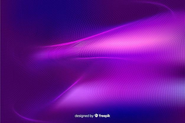 抽象的な輝く粒子モデルの背景