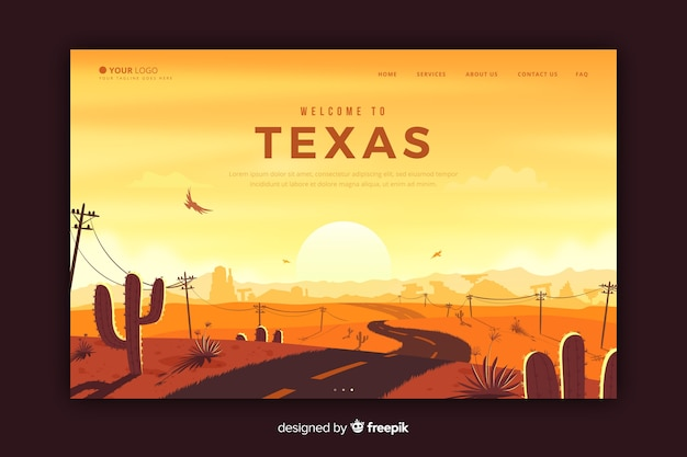 テキサスのランディングページへようこそ