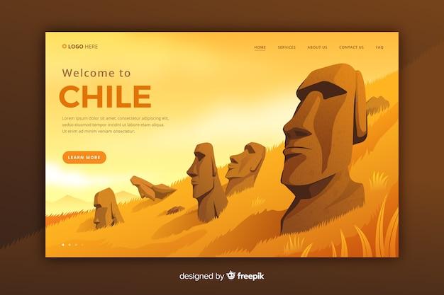 チリのランディングページへようこそ