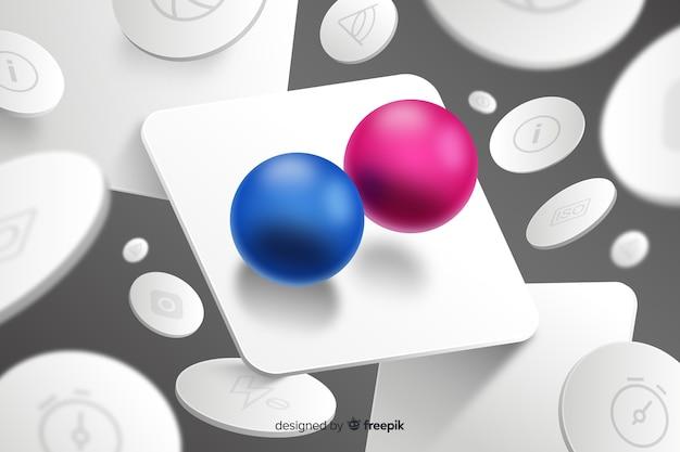 泡と抽象的な背景