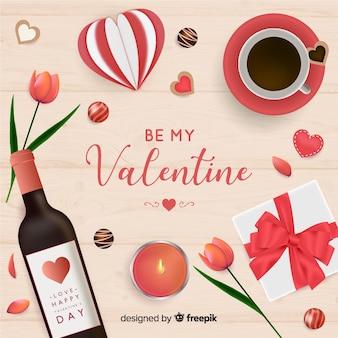 現実的なバレンタインの背景