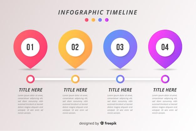 タイムラインビジネスインフォグラフィック