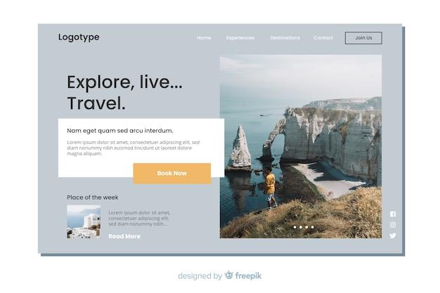 Целевая страница путешествия с фото