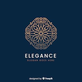 エレガントな装飾ロゴ