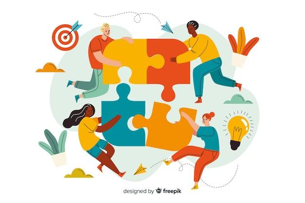 Соединение команд, концепция целевой страницы
