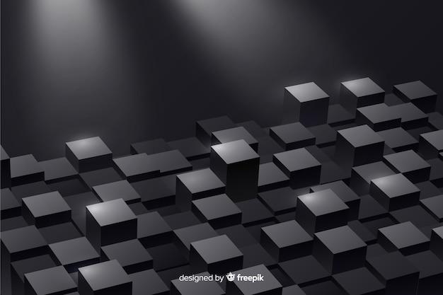 Реалистичные кубики пола фон