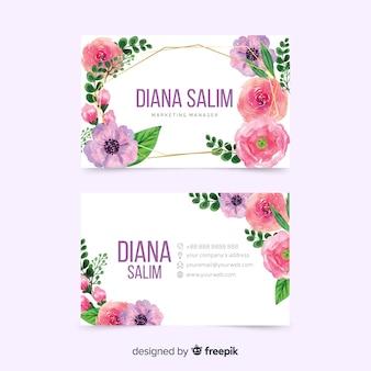 Красочный дизайн шаблона для визитной карточки