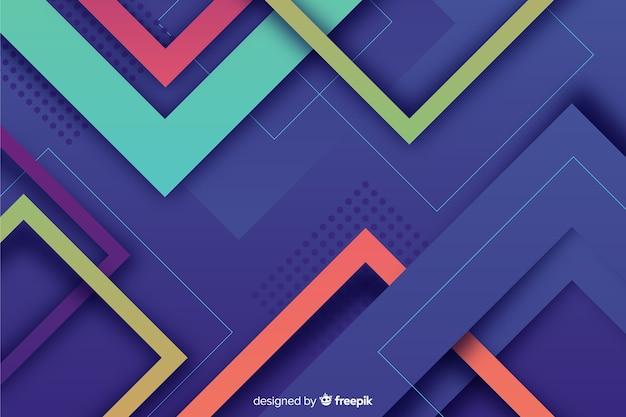 カラフルな幾何学的図形の背景