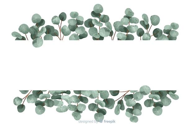 コピースペースで抽象的な緑の葉の背景