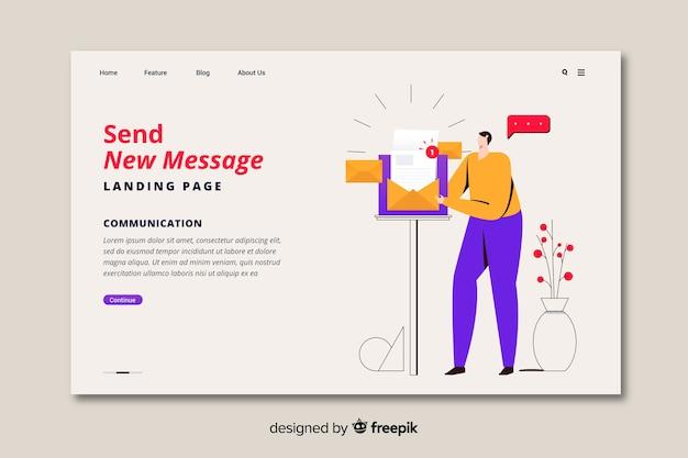 ランディングページの新しいメッセージコンセプト