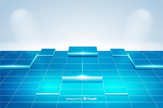 現実的なキューブ床の背景