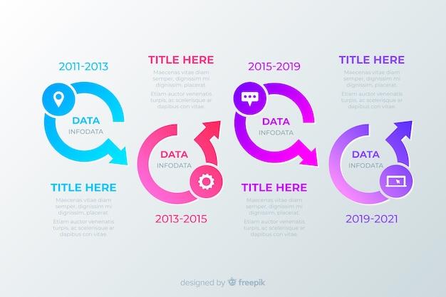 テンプレートタイムラインビジネスインフォグラフィック