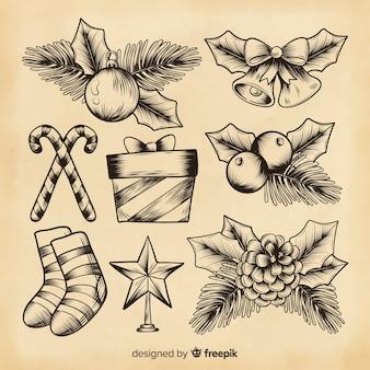 クリスマスツリーの松とクリスマスの装飾