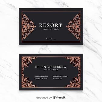 Золотая декоративная визитка