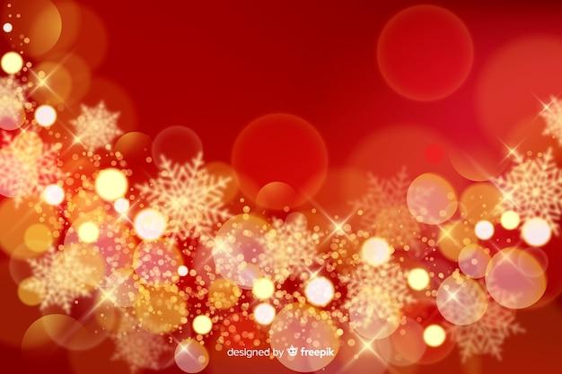 輝きとクリスマスの背景
