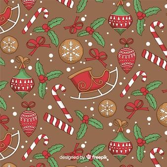 Рождественский узор в винтажном стиле