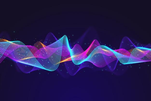 Абстрактный эквалайзер частиц волны фон