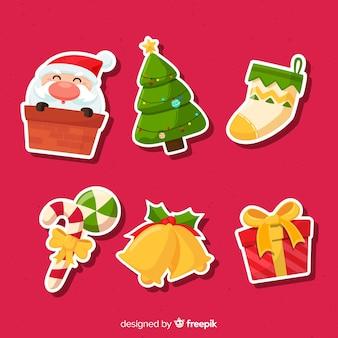 サンタとクリスマスステッカーコレクション