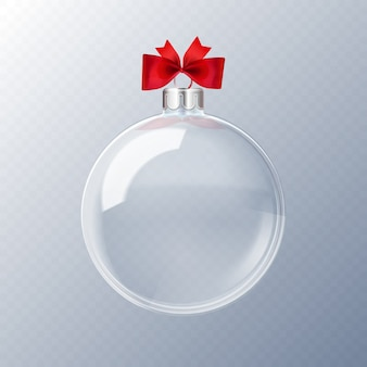 Декоративный хрустальный елочный шар