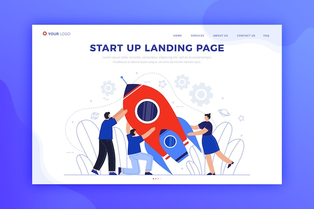 Шаблон целевой страницы запуска бизнеса
