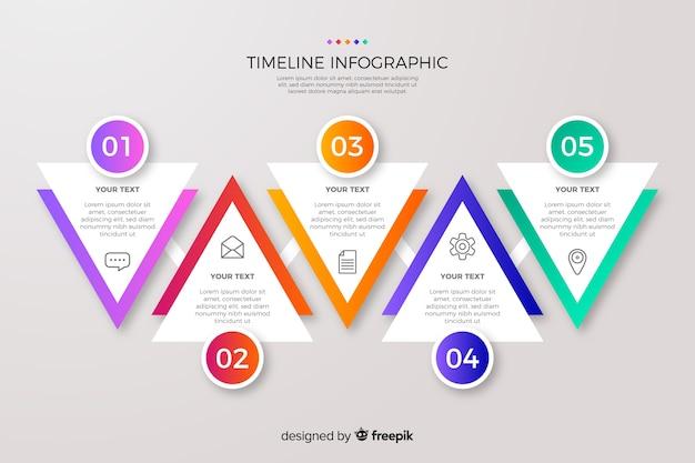 Градиент временной шкалы инфографики