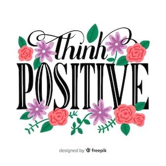 Подумайте позитивные цитаты цветочные надписи