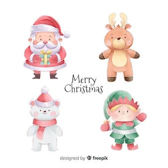 水彩クリスマスキャラクターコレクション
