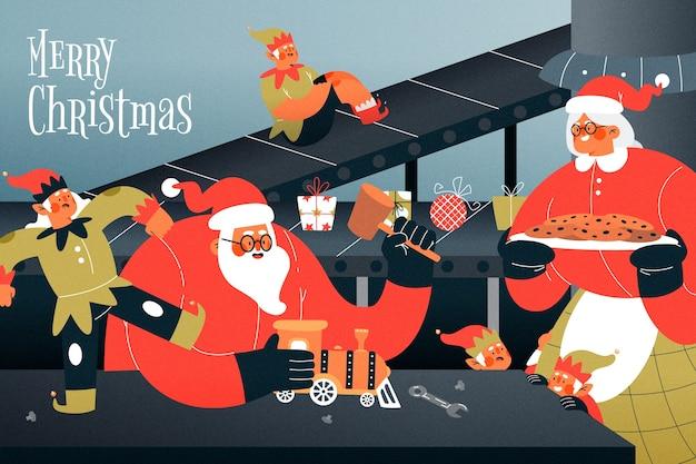 Ручной обращается рождественский фон