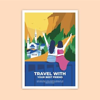 Путешествуйте со своим лучшим другом постером