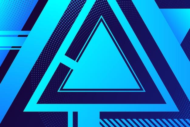 グラデーションの幾何学的三角形の背景