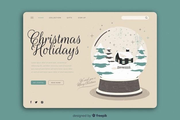 ビンテージテンプレートクリスマスランディングページ
