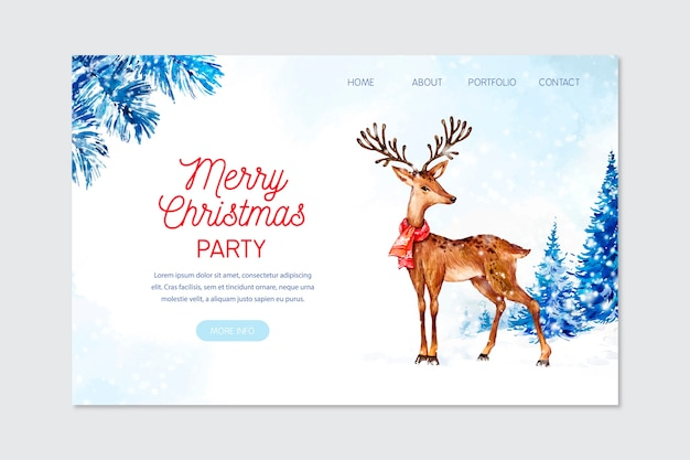 水彩クリスマスランディングページ