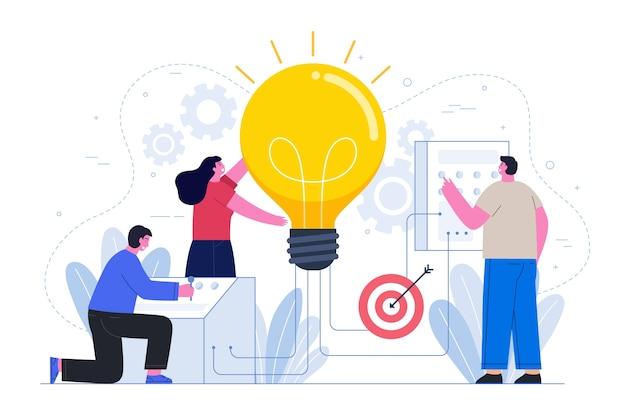 人とのビジネスアイデアコンセプト