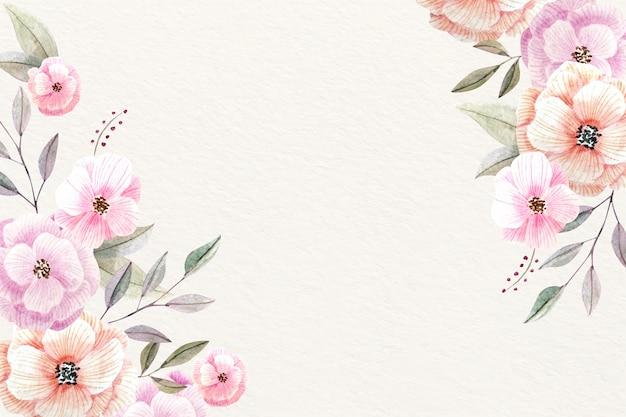 Акварель цветочный фон с мягкими цветами