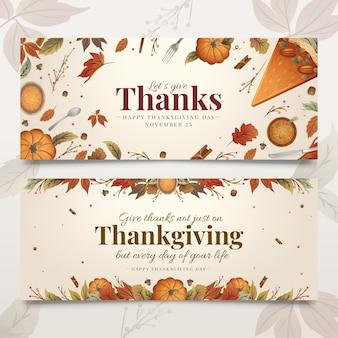 Ручной обращается благодарения баннеры