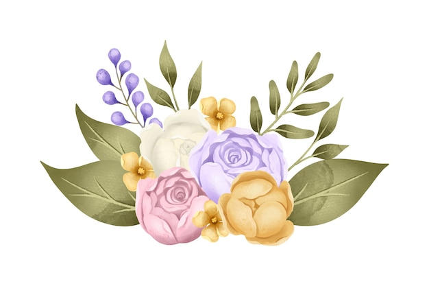Винтажная цветочная композиция