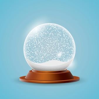 Реалистичный новогодний снежный шар