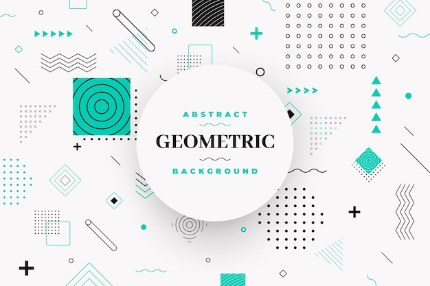 平らな幾何学的モデルの背景