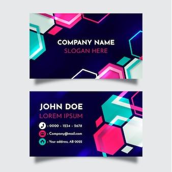 Шаблон визитной карточки абстрактный