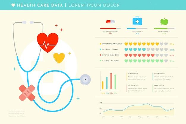 Здравоохранение медицинская инфографика