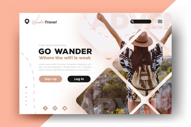 写真付き旅行ランディングページテンプレート
