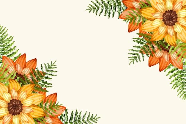 手描きの植物の壁紙