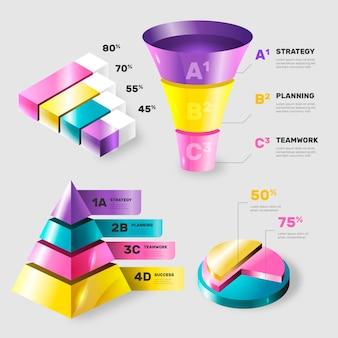 Красочные глянцевые инфографики элементы