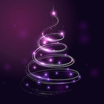 Свет тропа рождественская елка концепция
