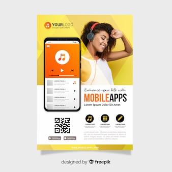 Шаблон брошюры для мобильного приложения