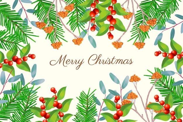 Традиционная рождественская елка ветви фон