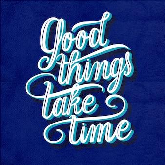 Позитивное сообщение в винтажном стиле