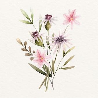 開花のビンテージ花の花束