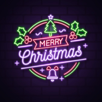 Рождественская елка с неоновым дизайном