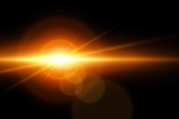 地球の日の出の光の効果